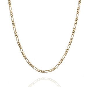 14KY Figaro Chain Necklace 24 IN