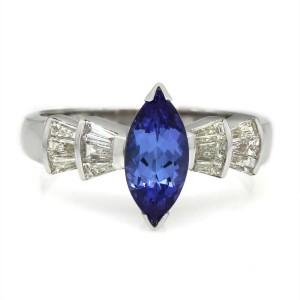 18KW Tanzanite and Diamond Ring