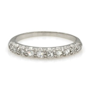 Platinum Single Row Diamond Ring