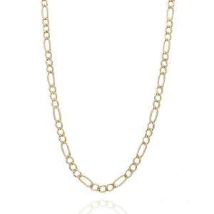 14KY Figaro Chain Necklace 25 IN