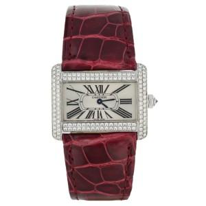 18KW Cartier Tank Divan Factory Diamond bezel  31.5 x 25.5 mm Ref: 2613