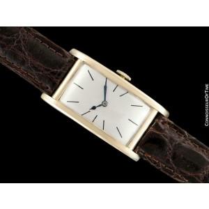 1927 IWC Vintage Art Deco Long 42mm Mens 14K Gold Watch - Minty with Warranty