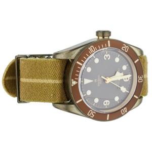 Tudor Black Bay Bronze Brown Dial on Nato Strap 43mm 79250B