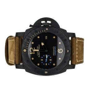 PANERAI LUMINOR SUBMERSIBLE 47MM CARBOTECH REF: PAM 616 COMPLETE SET