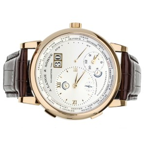 A. Lange and Sohne Grand Lange 1 Timezone Rose Gold 42mm 116.032