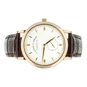 A. LANGE & SOHNE SAXONIA SMALL SECONDS 37MM YELLOW GOLD FULL SET  215.032