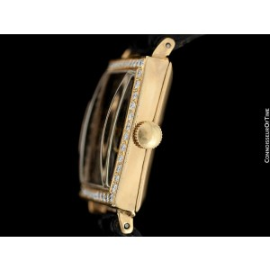 "1938 ROLEX Art Deco Mens ""Prince Elegante"" Watch - 14K Gold & Diamonds"