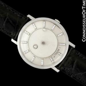 1958 Jaeger-LeCoultre Galaxy Diamond Mystery Dial, 14K White Gold - All Original