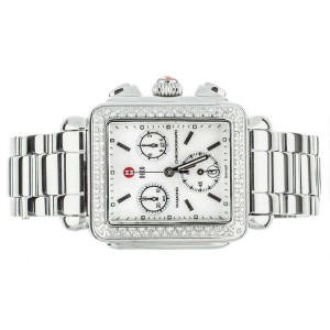 Michele Deco MW06A01 Stainless Steel Rectangular Watch