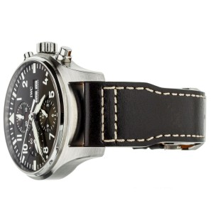 IWC PILOT CHRONOGRAPH ST EXUPERY BROWN DIAL ON STRAP 43MM REF IW377713