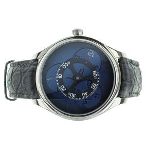 H. Moser Endeavour Flying Hours White Gold 42mm Blue Dial Ref 1806-0200 Full Set