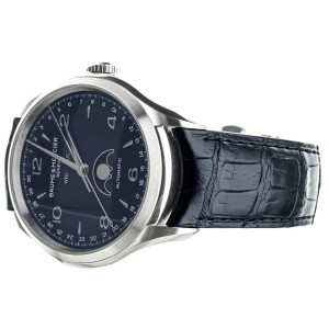 Baume & Mercier Clifton Triple Date Moonphase Blue Dial 43mm Full Set MOA10057