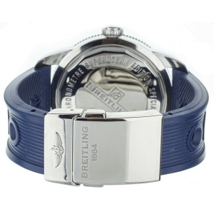 Breitling SuperOcean Heritage Blue Rubber Deployant Clasp 46mm  Ref: A17320