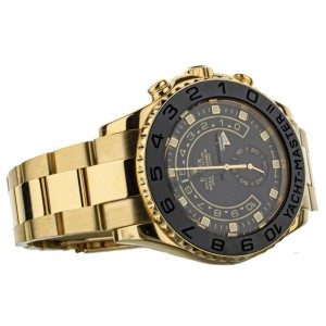 Rolex Yacht Master II 16688 Yellow Gold Custom Black Dial Black Bezel 44mm