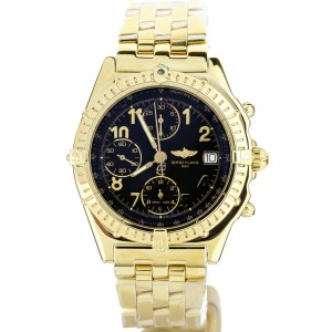 Breitling Chronomat Yellow Gold Black Dial 40mm K13050.1