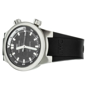 IWC Aquatimer Stainless Steel Black Dial Rubber Strap 42mm Ref: IW354807