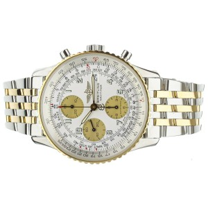 Breitling Navitimer White Dial Stainless Steel and Yellow Gold 42mm D13322