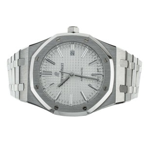 Audemars Piguet Royal Oak White Dial Stainless Steel 41mm 15400 Complete Set
