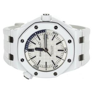 Royal Oak Offshore Diver White Ceramic 42mm Rubber Strap 15707cb.00.a010ca.01