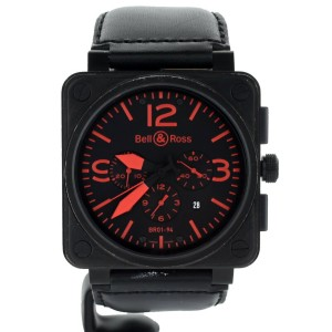 Bell and Ross BR01 Carbon Red Numbers PVD Stainless Steel BR 01-94-sRed Full Set