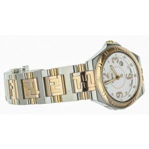 FENDI stainless steel / yellow gold ladies watch 28mm Ref: 004-4600L-275 Full se