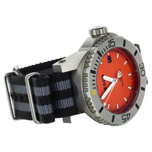 Resco UDT Stainless Steel Diver Orange Dial on Nato Strap 42mm