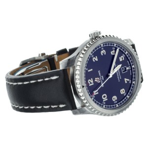 Breitling Aviator 8 Automatic 41mm Calf Strap Stainless Steel A17315 Full Set