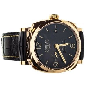 PANERAI RADIOMIR 1940 10 DAY GMT ORO ROSSO 45MM SLATE DIAL FULL SET REF PAM 625