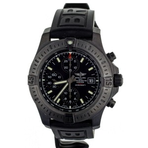BREITLING COLT CHRONOGRAPH BLACK STEEL RUBBER STRAP 44MM M13388