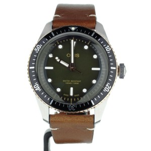 ORIS DIVER SIXTY FIVE 40MM STAINLESS STEEL GREEN DIAL 01-733-7707-4387 FULL SET