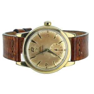 Omega Seamaster Automatic gold filled 35mm on Leather Strap Vintage