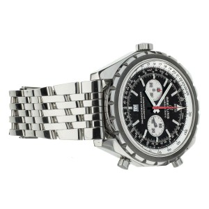 Breitling Chronomatic Black Dial Chronograph Stainless Steel 44mm A41360