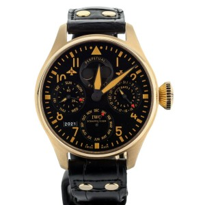 IWC BIG PILOT PERPETUAL BUCHERER EDITION ROSE GOLD BLACK DIAL 46MM IW502635