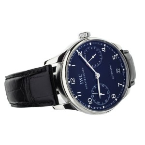 IWC Portugieser 7 Days Automatic Stainless Steel Black Dial  IW500109 Full Set