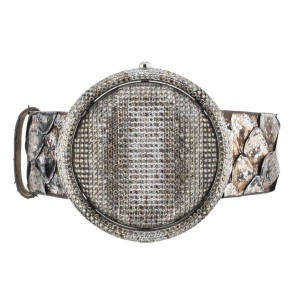 CHRISTIAN TSE PRISMATIC DIAMOND WATCH 42MM SS 4.75CTW QUARTZ