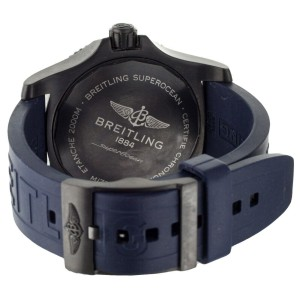 Breitling Superocean Blacksteel 46mm Blue Dial Rubber Strap M17368 Full Set