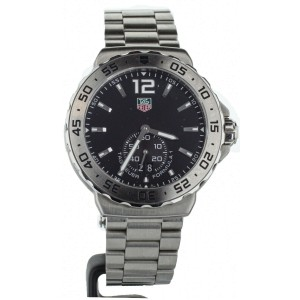 TAG HEUER FORMULA ONE STAINLESS STEEL BLACK DIAL QUARTZ 42MM WAU1112
