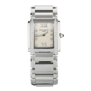 Patek Philippe Twenty 4 Stainless Steel Diamond Bezel 4910/10A-011 Full Set