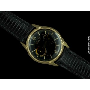 1954 LECOULTRE FUTUREMATIC Vintage Mens Solid 14K Gold Watch - Rare & Minty