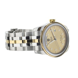 TUDOR GLAMOUR DAY DATE CHAMPAGNE DIAL DIAL TWO TONE 40MM FULL SET REF: 56003