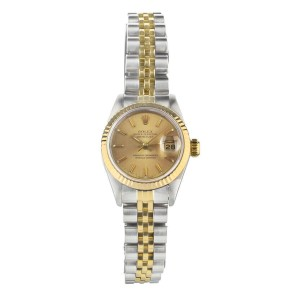 Rolex Datejust Stainless Steel Yellow Gold With Gold Dial 26mm 69173