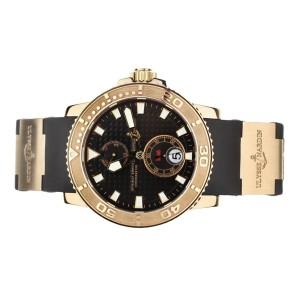 Ulysse Nardin Maxi Marine Diver Rose Gold Rubber Strap 43mm 266-33-3A/925