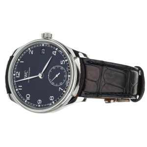 IWC Portugieser Eight Days Hand-Wound Black Dial  43mm IW510202 Full Set
