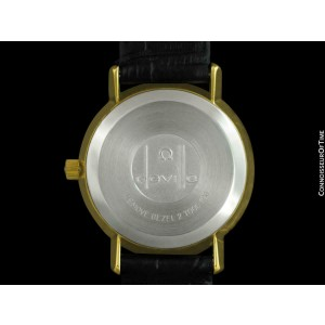 1978 OMEGA DE VILLE Vintage Mens Full Size 18K Gold Plated - Mint with Warranty
