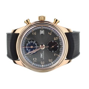 IWC Rose Gold Portugieser Chronograph Classic 42mm IW390405 Full Set