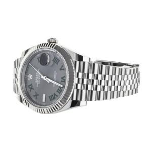 Rolex Datejust 41mm Wimbledon Stainless Steel Jubilee Bracelet 125334 Full Set