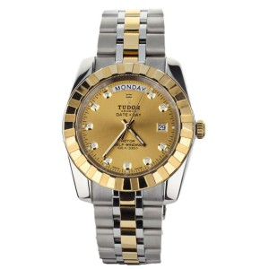 TUDOR CLASSIC DAY DATE STAINLESS STEEL YELLOW GOLD 41MM 23013 FULL SET