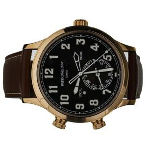 Patek Philippe Calatrava Pilot Travel Time Rose Gold 42mm 5524R Full Set