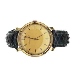 IWC VINTAGE GOLD CASE MANUAL WIND 36MM AFTERMARKET STRAP AND BUCKLE