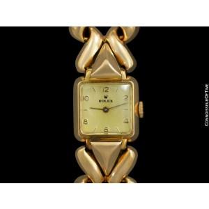1946 ROLEX Vintage Ladies 18K Rose Gold Dress Watch - Minty with Warranty